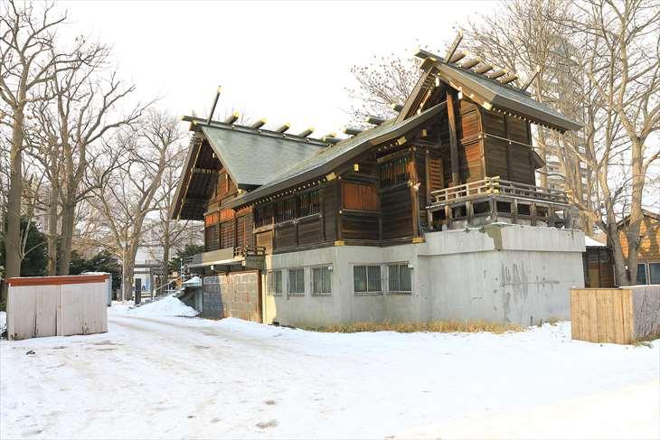 札幌諏訪神社 裏口