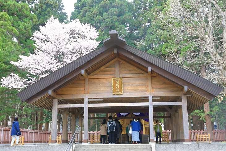 北海道神宮 開拓神社と桜