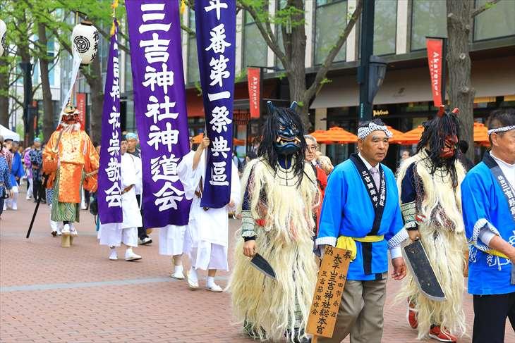 札幌三吉神社のお祭り 神輿渡御