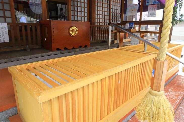 北海道神宮頓宮 初詣時期の臨時お賽銭箱