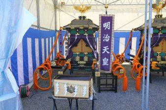 北海道神宮例祭の神輿 明治天皇