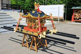 篠路神社のお祭り お神輿