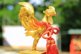 篠路神社のお祭り お神輿の鳳凰