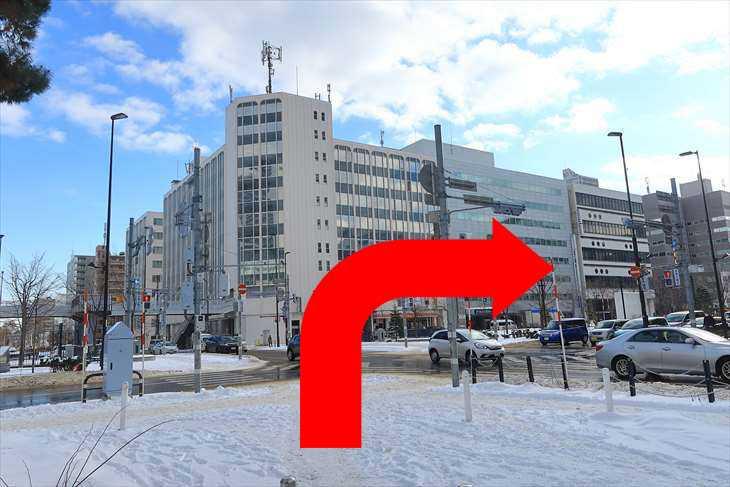 大通駅27番出口を出たところの風景