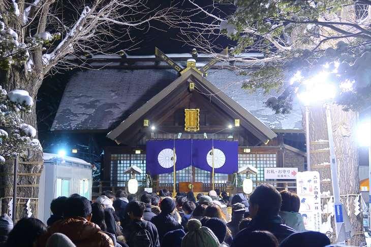北海道神宮頓宮 元旦の様子
