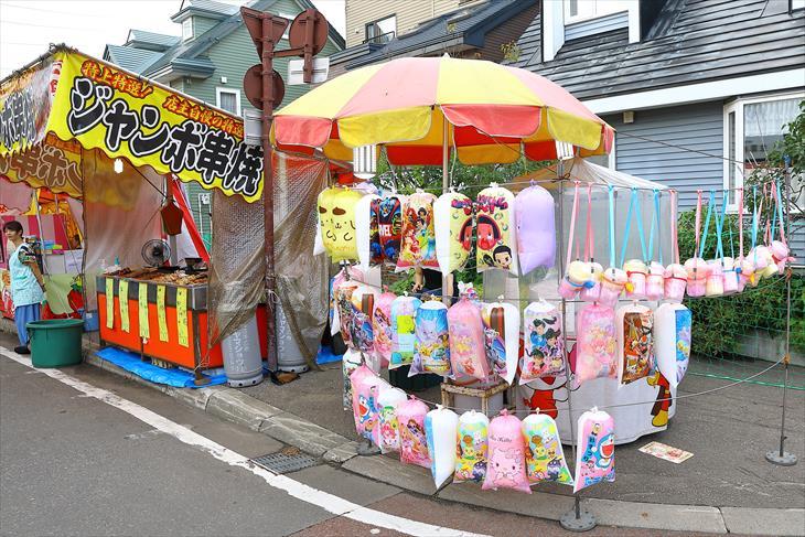 月寒神社のお祭りの様子