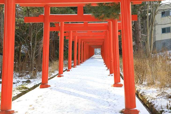 冬の札幌伏見稲荷神社