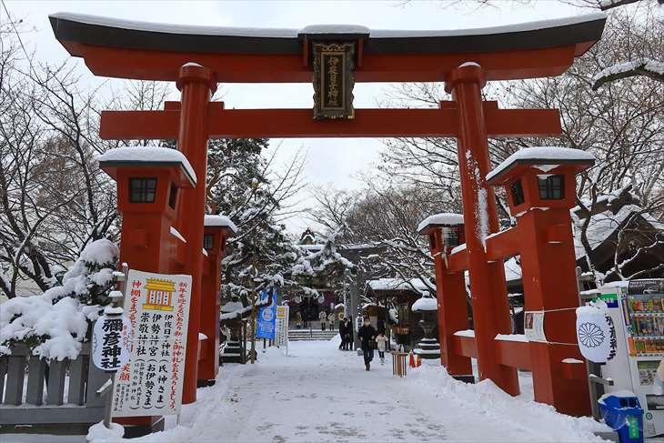 1月3日の彌彦神社の様子