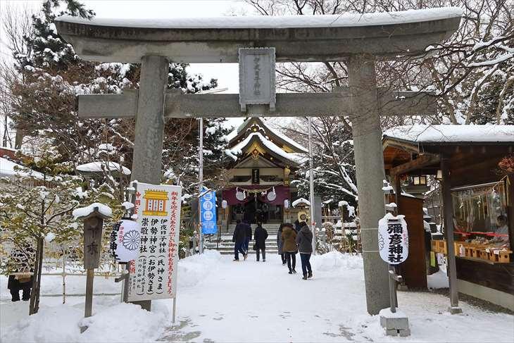2021年1月3日 弥彦神社の様子
