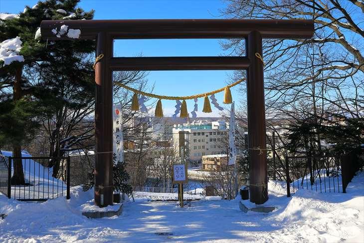 冬の厚別神社 第2鳥居