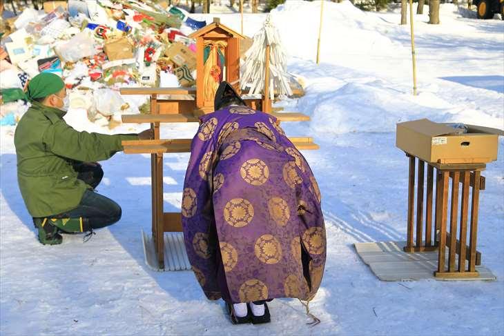 札幌護国神社 どんど焼き