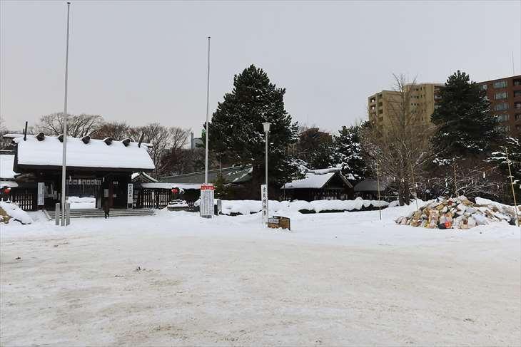 札幌護国神社 どんど焼きの場所