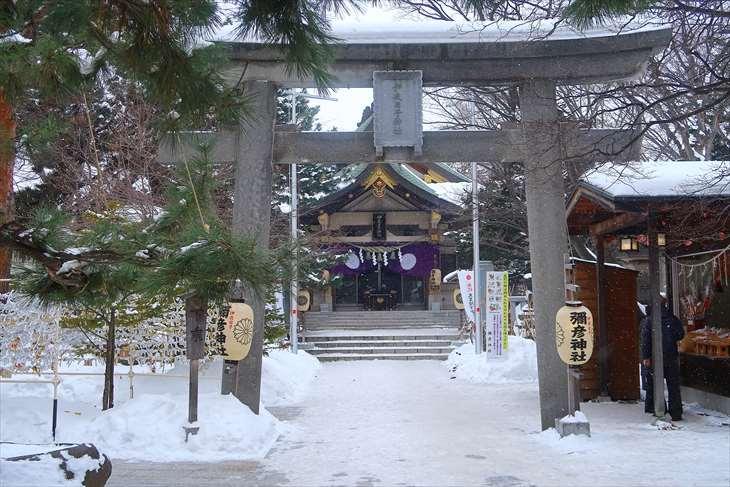 2019年1月3日 札幌の弥彦神社の様子