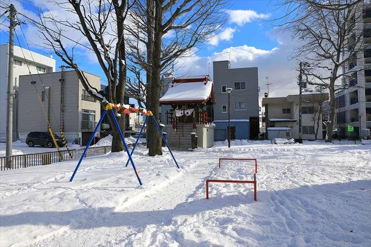菊水公園と菊水神社