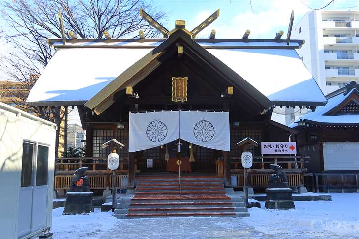 12月の北海道神宮頓宮