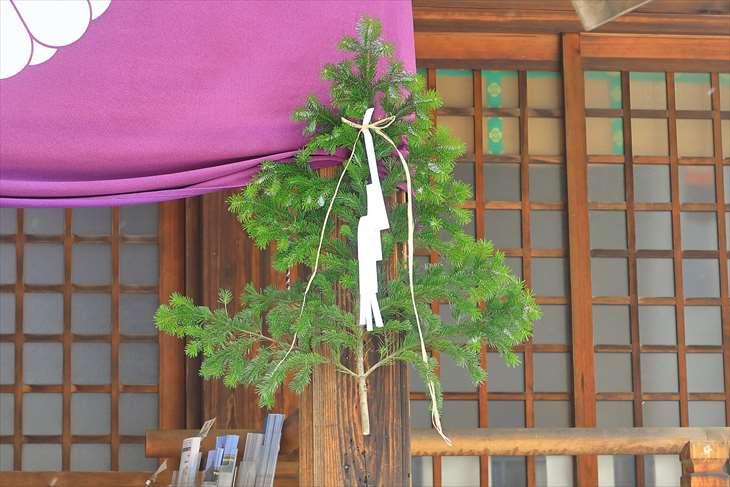 北海道神宮頓宮 正月飾り取付け