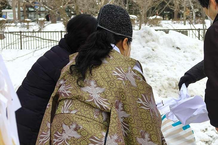札幌水天宮 どんど焼き