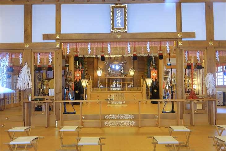 新琴似神社 拝殿の中